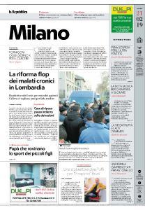 la Repubblica Milano - 21 Febbraio 2019
