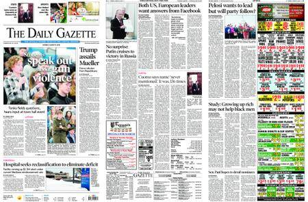 The Daily Gazette – March 19, 2018