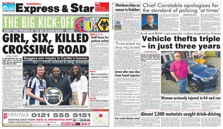 Express and Star Sandwell Edition – July 30, 2018