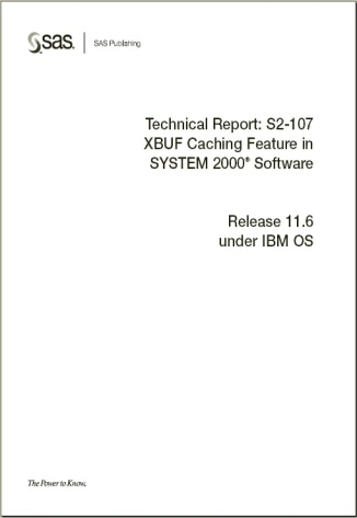 XBUF Caching Feature in SYSTEM 2000® Software