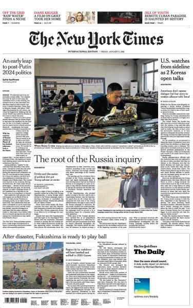 International New York Times - 5 January 2018