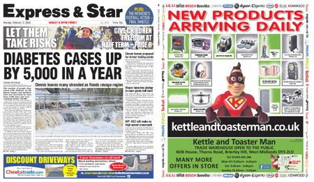 Express and Star Dudley and Wyre Forest Edition – February 17, 2020