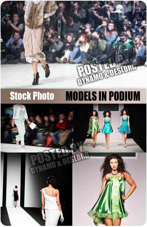 Models in podium - UHQ Stock Photo