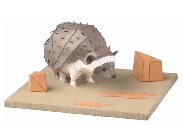 South African Hedgehog, Paper Craft Model