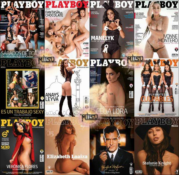 Playboy Mexico - Full Year 2017 Issues Collection