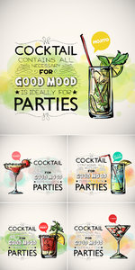 Party Cocktails Vector