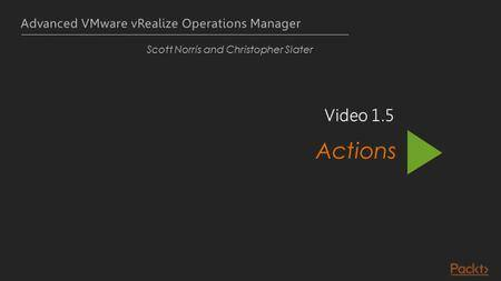 Advanced VMware vRealize Operations Manager