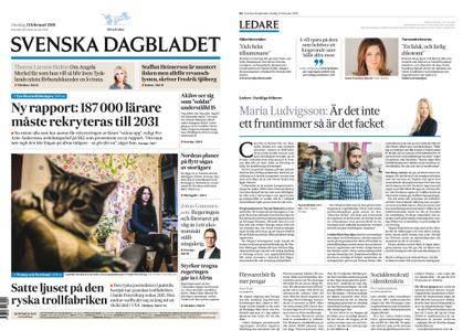 Svenska Dagbladet – 21 februari 2018