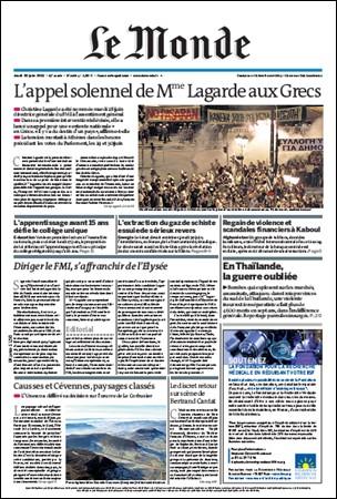 Le Monde - 30 June 2011