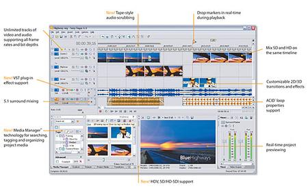 Sony Vegas® 6 software