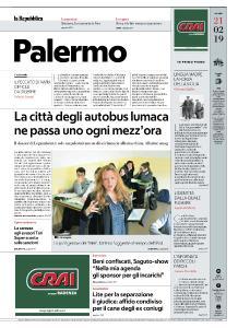 la Repubblica Palermo - 21 Febbraio 2019