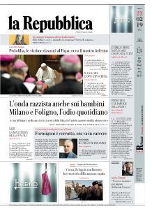 la Repubblica - 22 Febbraio 2019