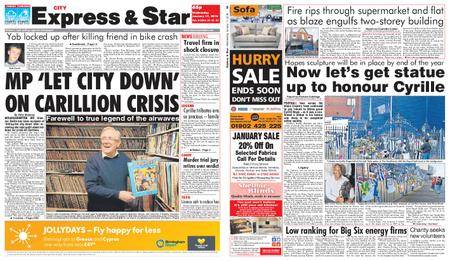 Express and Star City Edition – January 17, 2018