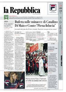 la Repubblica - 23 Settembre 2018