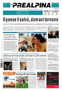 La Prealpina - 18 Ottobre 2017