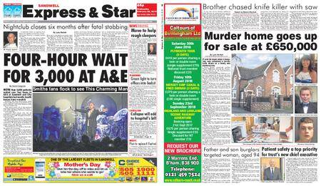 Express and Star Sandwell Edition – February 28, 2018