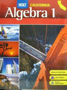 Holt California Algebra 1