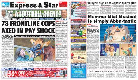 Express and Star Sandwell Edition – February 09, 2018