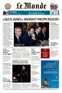 Le Monde du Mercredi 5 Décembre 2018