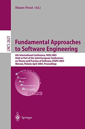 Fundamental Approaches to Software Engineering: 6th International Conference, FASE 2003 Held as Part of the Joint European Conf