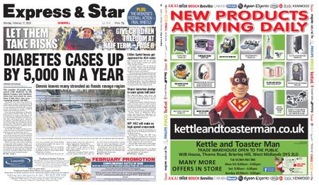 Express and Star Sandwell Edition – February 17, 2020