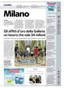 la Repubblica Milano - 18 Luglio 2018