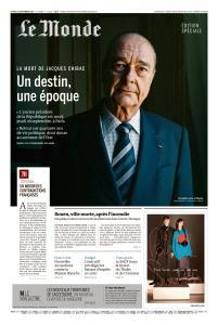 Le Monde du Samedi 28 Septembre 2019