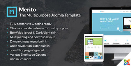 ThemeForest - Merito v1.0.0 - The Powerful Multipurpose Joomla Template