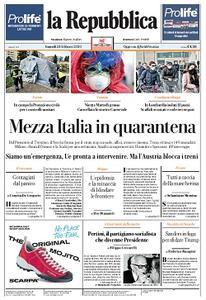 la Repubblica - 24 Febbraio 2020