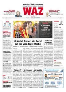 WAZ Westdeutsche Allgemeine Zeitung Oberhausen-Sterkrade - 11. Oktober 2017