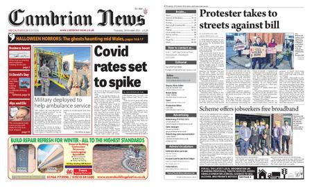 Cambrian News Arfon & Dwyfor – 29 October 2021