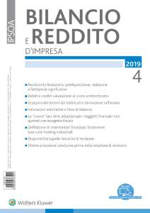 Bilancio e reddito d'impresa - Aprile 2019