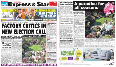 Express and Star Sandwell Edition – May 18, 2019