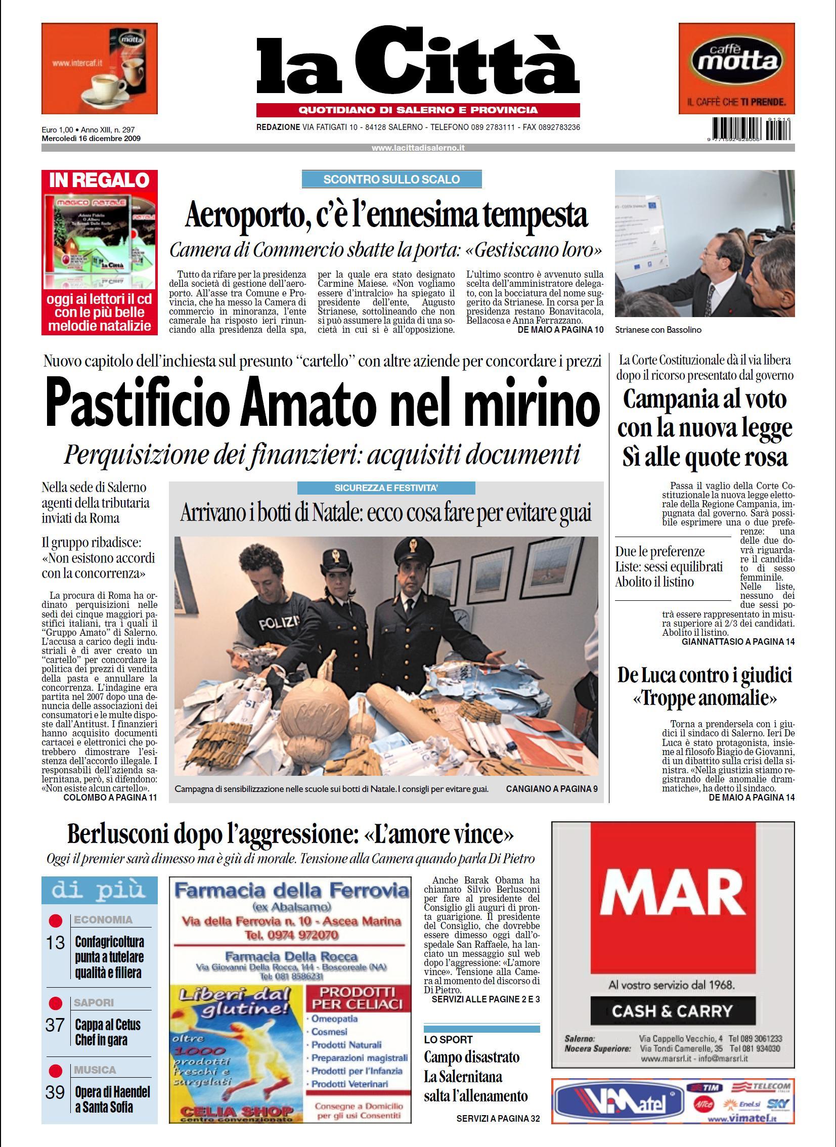 LA CITTA DI SALERNO 16 DICEMBRE 2009
