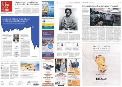 The Globe and Mail – March 20, 2018