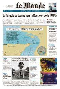 Le Monde du Dimanche 14 et Lundi 15 Juillet 2019