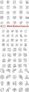 Vector - Black Business Icons 50