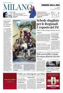 Corriere della Sera Milano - 4 Marzo 2018