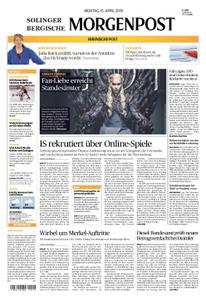 Solinger Morgenpost – 15. April 2019