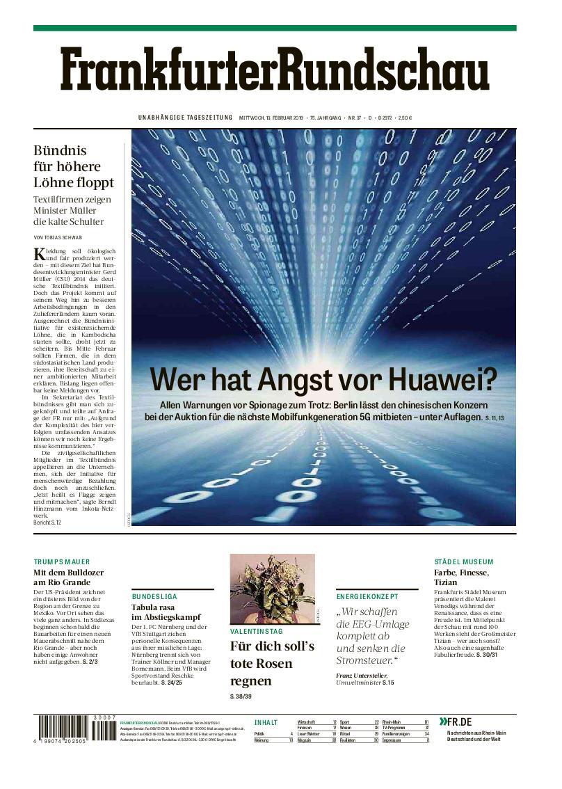 Frankfurter Rundschau Deutschland - 13. Februar 2019