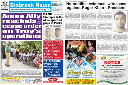 Stabroek News – October 17, 2019