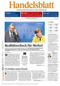Handelsblatt - 10. August 2016