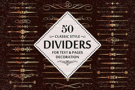 50 Vector Divider Design Elements