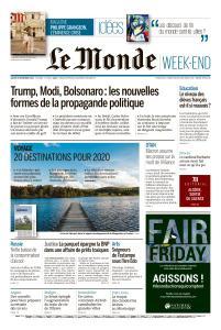 Le Monde du Samedi 30 Novembre 2019