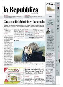 la Repubblica - 12 Gennaio 2018