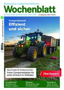 Bayerisches Landwirtschaftliches Wochenblatt Oberbayern - 17. September 2020