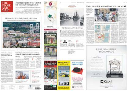 The Globe and Mail – August 15, 2018