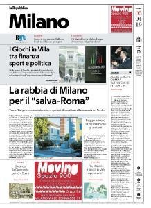 la Repubblica Milano - 5 Aprile 2019
