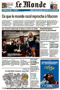 Le Monde du Vendredi 23 Février 2018