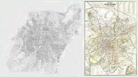 Moscow Maps of 1852 & 1912